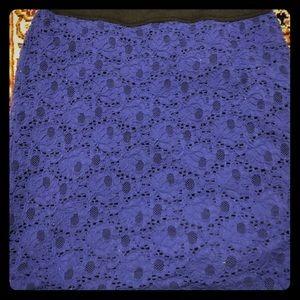 Silence + Noise Blue-purple patterned skirt